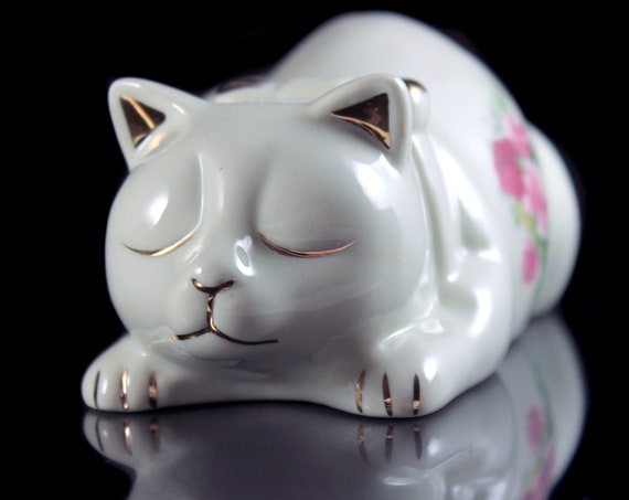 Sleeping Cat Figurine, Baum Bros., Formalities, Cat Statue, Animal Art, Animal Statue, Collectible, Cat Lovers Gift