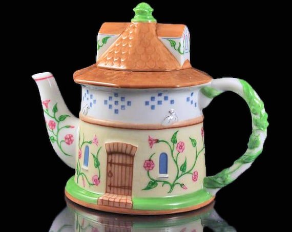 Lenox Dovecote Teapot, The English Garden Collection, Collectible, Tea For One, Small Teapot