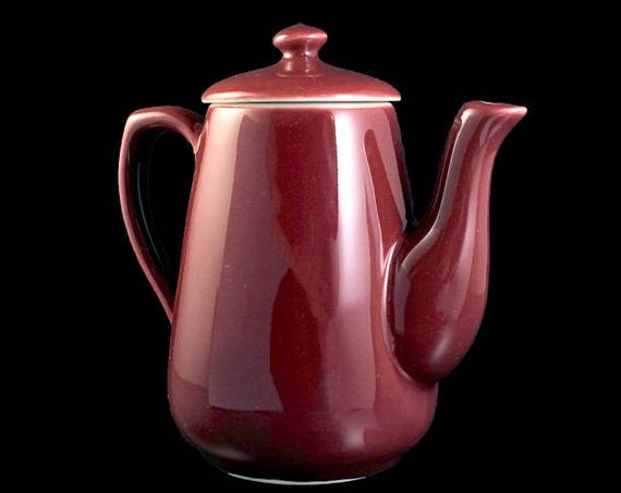 Teapot, Tea, Hall, Maroon, Individual, 2 Cups