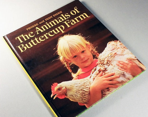 Children's Hardcover Book, The Animals of Buttercup Farm, Judy Dunn, First Edition, Illustrated, Educational Book, Non-Fiction, Collectible