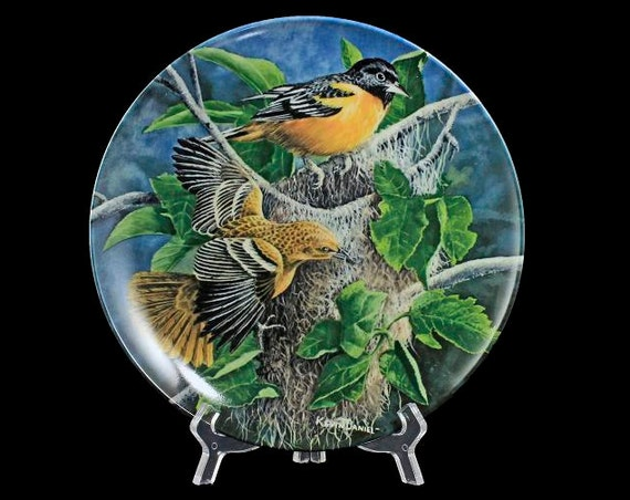 Knowles Collector Plate, The Baltimore Oriole, Limited Edition, Painted by Kevin Daniel, Birds of Your Garden Collection, Home Decor