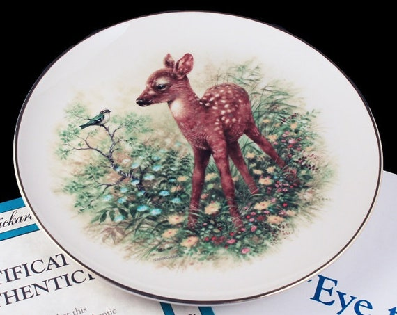 1989 Collector Plate, Bradford Exchange, Pickard, Eye to Eye, Innocent Encounters, Limited Edition, Decorative Plate, Wall Decor, New In Box