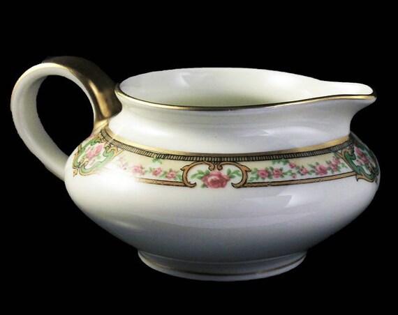 Antique Creamer, Theodore Haviland, Limoges France, The Belfort, Hard To Find, Floral Pattern, Gold Trimmed, Antique Pitcher