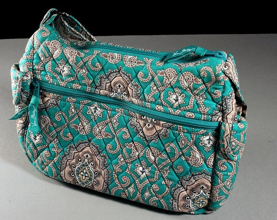 Vera Bradley Handbag, Cloth Bag, Totally Turq, Shoulder Bag, Zipper Closure, Woman's Gift. Turquoise