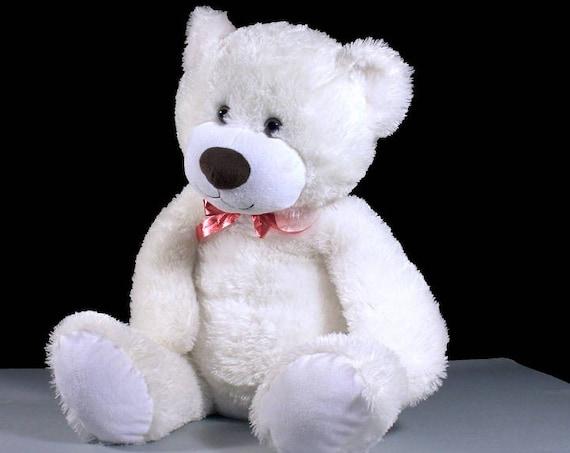Large Bear Stuffed Animal, Teddy Bear, Animal Adventure, Polar Bear, White, Fluffy, Soft, Plush, 26 Inch