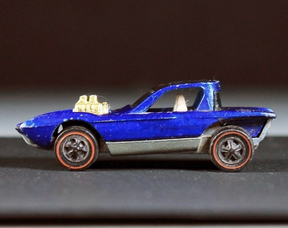 Hot Wheels, 1968 Hot Wheels Redlines, Python, Sweet Sixteen, Blue, Die Cast Metal, Collectible Toy Car, Toy Car