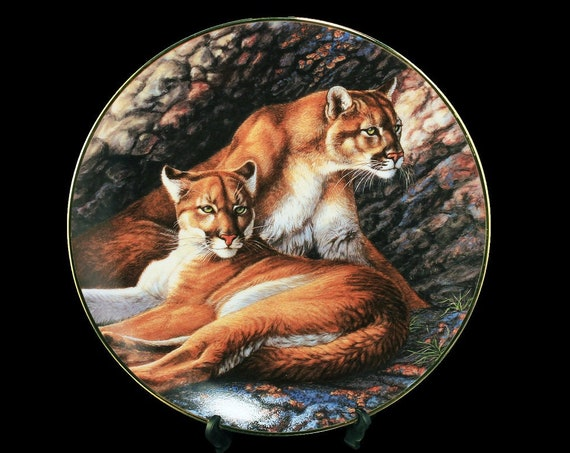 Collectible Plate, The Hamilton Collection, Devoted Protector, Cougars, Limited Edition, Decorative Plate, Wall Decor, New In Box