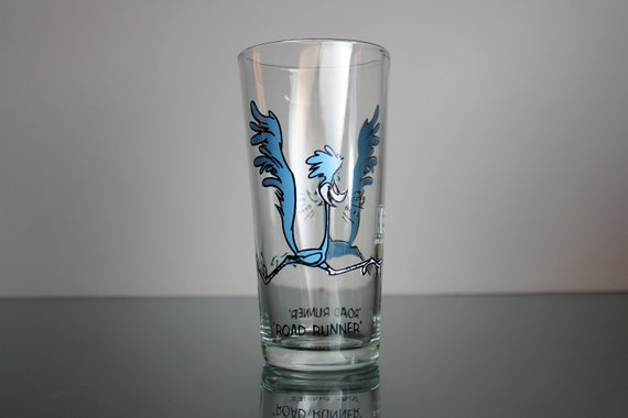 1973 Collectible Tumbler, Road Runner, Pepsi Collector Series, 16 Ounce, Drinking Glass