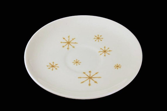 Saucer, Royal China (USA), Crystal Pattern, Gold Star Pattern, (Saucer Only No Cups)