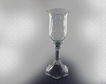 2 Piece Candlestick, Etched Peg Votive Holder, Homeco, Home Interiors,  Yellow Taper Candle and Tea Lite Included