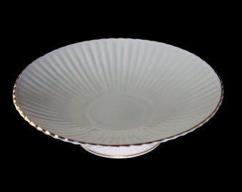 Lenox Pedestal Footed Bowl, Centerpiece, Fluted Collection, Scalloped Bowl, 24K Gold Trim, Giftware