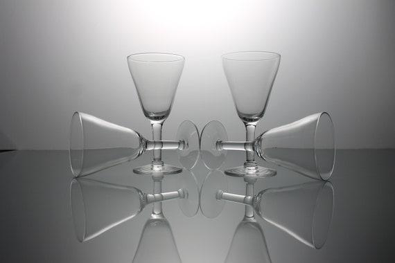 Sherry Glasses, Clear Glass, Set of 4, Glassware, Barware