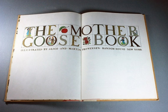 Children's Hardcover Book, The Mother Goose, First Edition, Nursery Rhymes, Color Illustrations