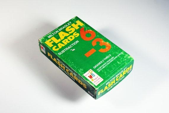 Subtraction Flash Cards, Milton Bradley, Parent and Teacher Aids, Home School, Teaching Tools, Teaching Game