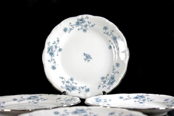 Blue Garland by Johann Haviland 3 Bread and Butter plates