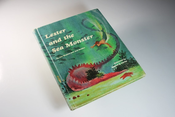 Children's Hardcover Book, Lester and the Sea Monster, Jan Slepian,  Fiction, Fairy Tale, Fantasy, Collectible