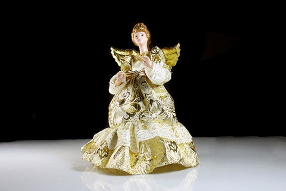 Christmas Angel, Tree Topper, Christmas Decoration, 9 Inches Tall, Centerpiece