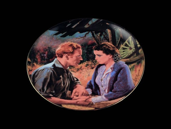 Gone With the Wind Plate, W. S. George, Scarlett and Ashley After the War, 1988 Limited Edition, Numbered Plate, Collector Plate