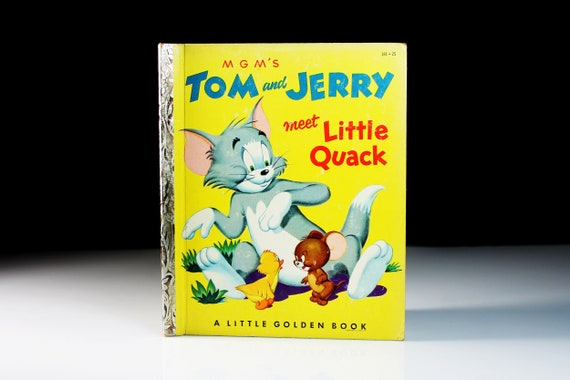 Children's Book, Tom and Jerry Meet Little Quack, Little Golden Book, 'A' First Edition, Story Book, Cat and Mouse, Picture Book