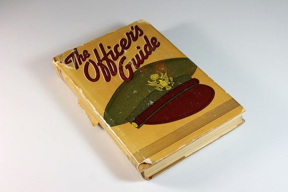 Hardcover Book, The Officer's Guide, Ninth Edition, Army Manual, Reference Book, WWII, Illustrated
