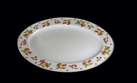 Platter, Empress China, Orchard Pattern