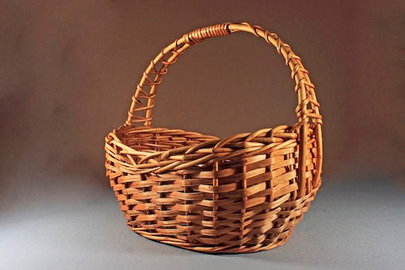 Wicker Basket, Market Basket, Oval Shaped, Shopping Basket, Gathering Basket