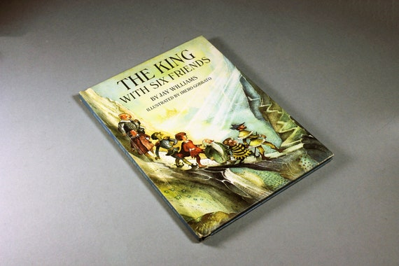 1968 Children's Hardcover Book, The King With Six Friends, Jay Williams, Fiction, Illustrated, Fiction, Classic