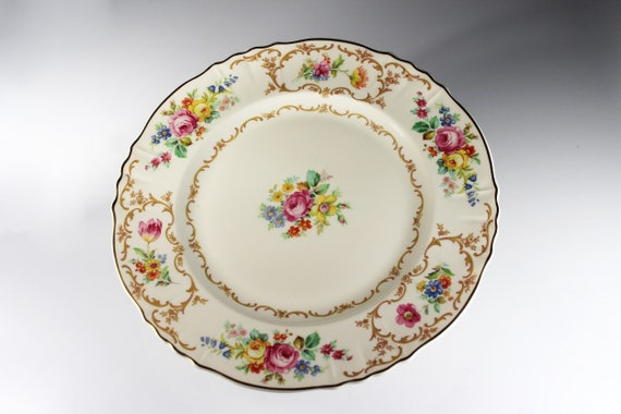 Dinner Plate, Syracuse, Riviera, Fine China, Old Ivory, Floral