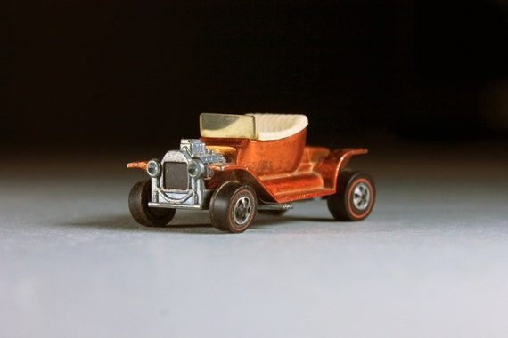 Hot Wheels, 1968 Hot Wheels Redlines, Hot Heap, Copper, Die Cast Metal, Collectible Toy Car, Toy Car