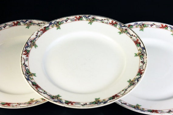 Bread and Butter Plates, B & C, Limoges, Bernardaud, Set of 3, Yellow and Orange Floral, Fine China