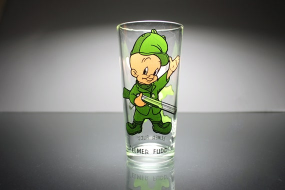 1973 Collectible Tumbler, Elmer Fudd, Pepsi Collector Series, 16 Ounce, Drinking Glass