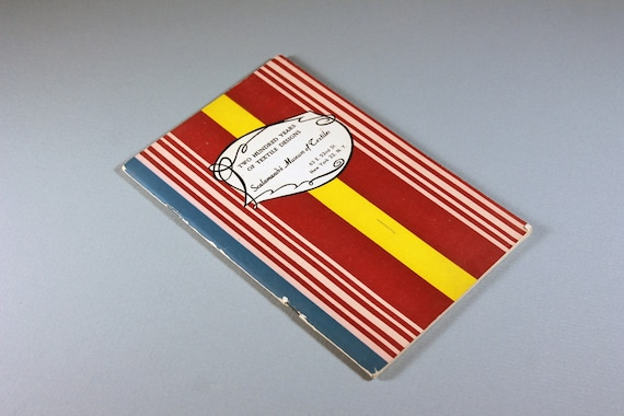 Textile Designs Brochure, Scalamandre Museum of Textiles, 200 Years of Textile Designs, Collectible, Reference, Paperback