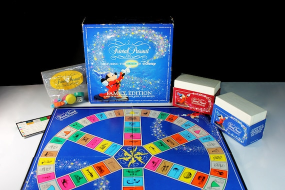 Trivial Pursuit Game, Featuring The Magic Of Disney, Parker Brothers, Board Game, Trivia Game