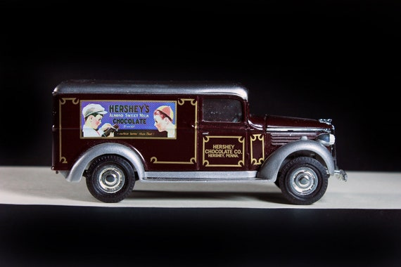 Matchbox, 1937 GMC Van, Hershey Chocolate Company, Models of Yesteryear, Brown, Die Cast Metal, Collectible, Toy Car