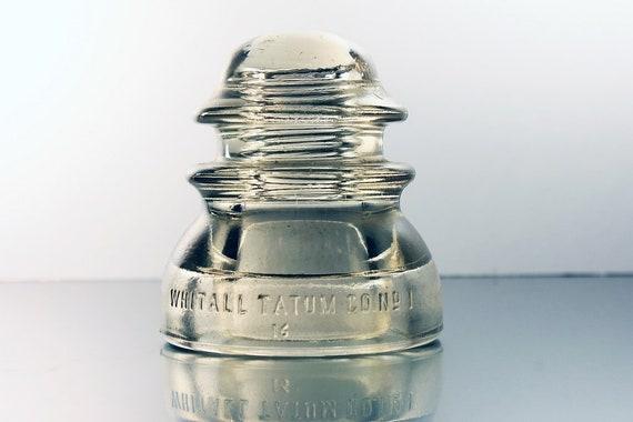 Insulator, Whitall Tatum No 1, Clear Glass, Collectible