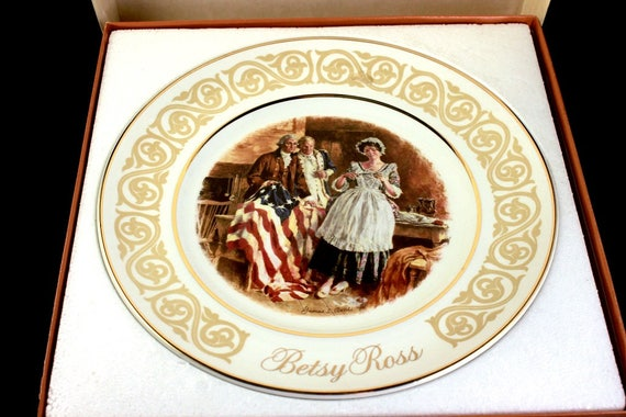 1973 Collectible Plate, Avon, Wedgwood, Betsy Ross, Display Plate, Decorative Plate, Wall Decor, New In Box