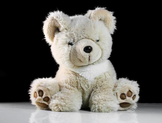 Plush Sitting Teddy Bear, Chosun International, Stuffed Animal, Light Tan, Fluffy, Soft, 9 Inches, Nursery Decor