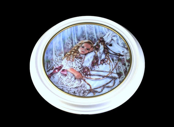 Knowles Framed Collector Plate, Tess, Limited Edition, Heirlooms and Lace Collection, Home Decor, Wall Plate, Nursery Decor