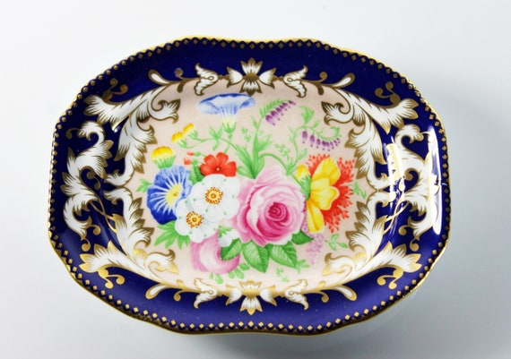 Decorative Miniature Tray, Spode, Made in England, Fine China, Floral, Home Decor, Collectible