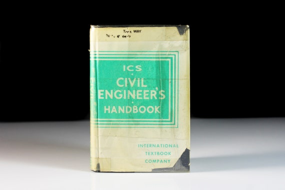 Hardcover Book, ICS Civil Engineer's HandBook, Fourth Printing, Instructional Manual, Reference Book, Technical Journal, Illustrated