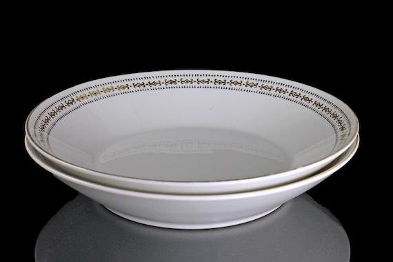 Mikasa Coupe Soup Bowls, Becket Pattern, Set of 2