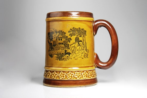 Lord Nelson Beer Stein, Antique, Made In England, Beer Mug, Decorative Stein, Unmarked