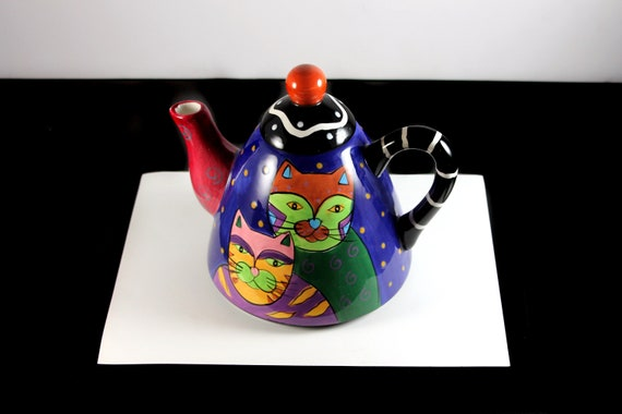 Teapot, Milson & Lewis, Manhattan Cats, Artistic Cats, Cat Lover's Gift, 4 Cup