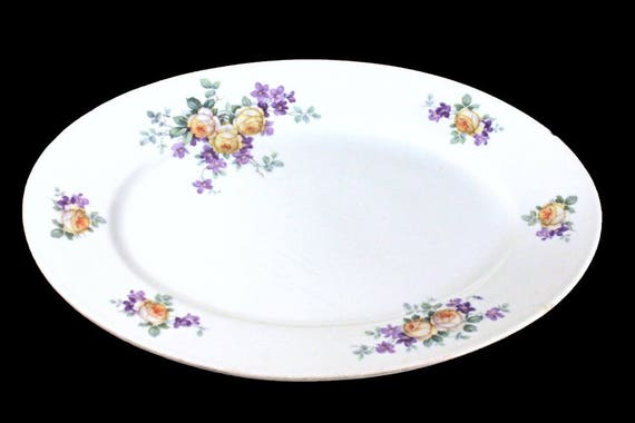 Oval Platter, Thomas Bavaria, Yellow Rose, Floral Pattern, 13 Inch, Collectible