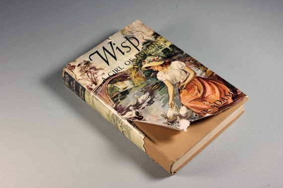 1922 Hardcover Book, Wisp, Katharine Adams, First Edition, Literature, Fiction, Novel, Young Adult, Ireland, Illustrated