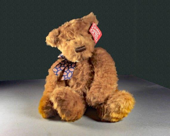 Teddy Bear, Gund, Ashford, Stuffed Animal, Cinnamon, Fluffy, Soft, Sitting Bear, Original Tag Attached