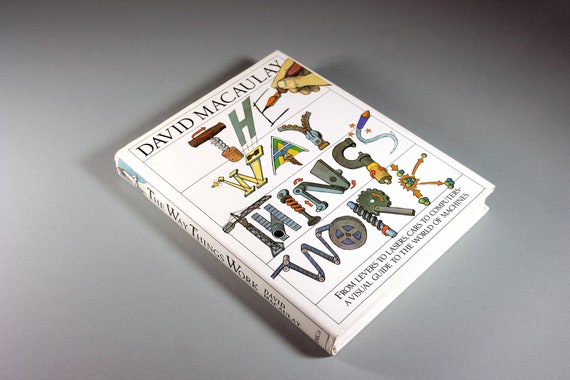 Children's Hardcover Book, The Way Things Work, David Macaulay, First Edition, Educational Book, Reference Book, Non-Fiction, Illustrated