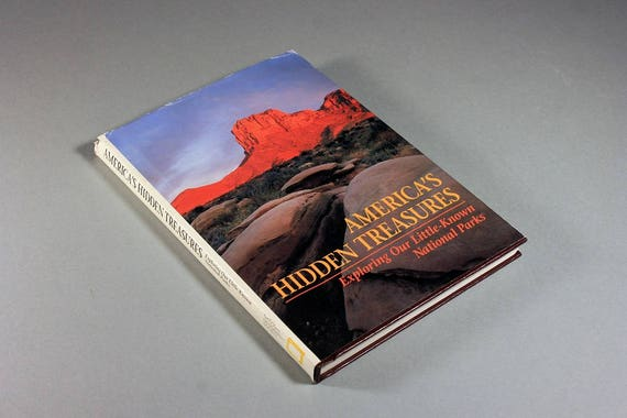 1992 National Geographic Book, America's Hidden Treasures, National Parks, History Book, Hardcover, Illustrated, Nature