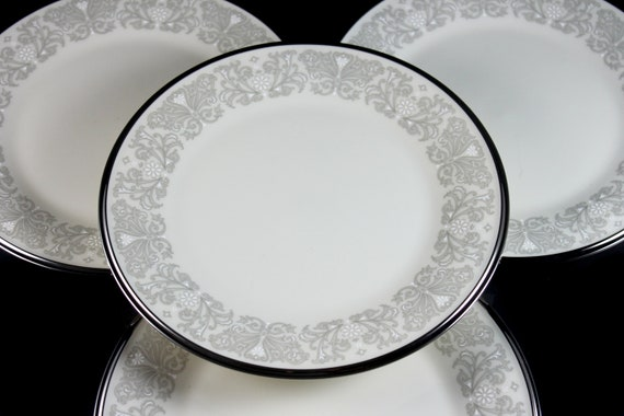 Salad Plates, Lenox, Snow Lily, Discontinued, Cream Color, Set of 4, Fine China, Like New