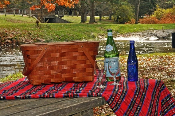 Picnic Basket, Woven Wood, Wov-N-Wood by Jery Wil
